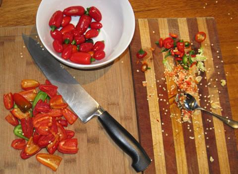 Making-sweet-chilli-sauce